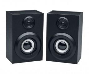 Stereo Bluetooth® Lautsprecher Set REFLECTS-ARONA mit Logo schwarz