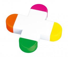 REFLECTS Textmarker CLIC CLAC-CARDIFF Werbeartikel weiß