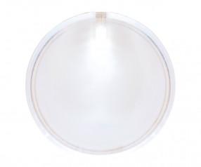 Blinklicht LED mit Anstecknadel REFLECTS-BASTOGEN WHITE mit Beschriftung transparent, weiß