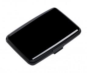 Kartenetui mit RFID Ausleseschutz REFLECTS-KENITRA BLACK Werbegeschenk schwarz