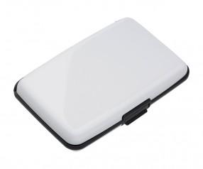 Kartenetui mit RFID Ausleseschutz REFLECTS-KENITRA WHITE Promotion-Artikel weiß