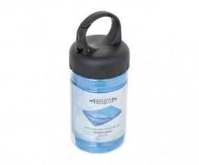 Sporthandtuch mit Kühlfunktion REFLECTS-SOUSSE BLUE mit Logo hellblau, schwarz, transparent