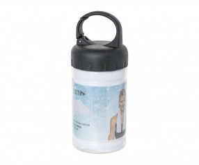 Sporthandtuch mit Kühlfunktion REFLECTS-SOUSSE WHITE mit Werbeanbringung schwarz, transparent, weiß