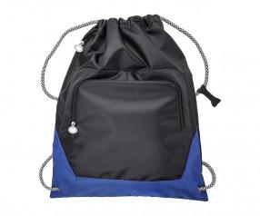 Turnbeutel REFLECTS-SUNDSVALL BLACK BLUE mit Logo schwarz/blau