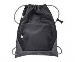 Turnbeutel REFLECTS-SUNDSVALL BLACK GREY mit Werbeanbringung schwarz/grau