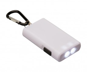Taschenlampe REFLECTS-KALISPELL WHITE mit Beschriftung weiß