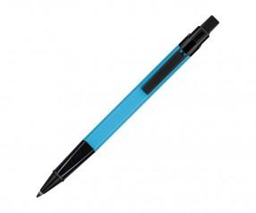 REFLECTS Kugelschreiber CLIC CLAC-LOGRONO LIGHT BLUE mit Beschriftung hellblau
