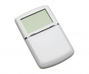 Taschenrechner mit Weltzeituhr REFLECTS-MASSENA WHITE Werbemittel weiß