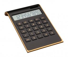 Taschenrechner REFLECTS-VALINDA BLACK GOLD mit Beschriftung goldfarben, schwarz, schwarz/gold