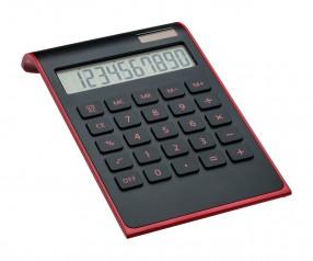 Taschenrechner REFLECTS-VALINDA BLACK RED Werbemittel rot, schwarz