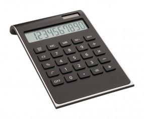 Taschenrechner REFLECTS-VALINDA BLACK SILVER Werbegeschenk schwarz, schwarz/silber, silber