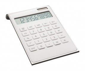 Taschenrechner REFLECTS-VALINDA WHITE SILVER Werbepräsent silber, weiß, weiß/silber