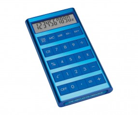 Solartaschenrechner REFLECTS-MACHINE BLUE mit Beschriftung blau