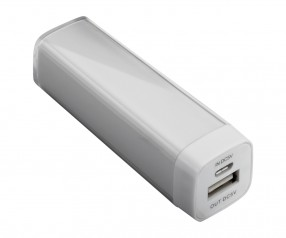 Powerbank REFLECTS-ABERDEEN WHITE 2200 mAh mit Logo weiß