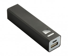 Powerbank REFLECTS-BOSTON BLACK 2200 mAh mit Werbeanbringung schwarz