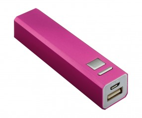 Powerbank REFLECTS-BOSTON MAGENTA 2200 mAh Promotion-Artikel magenta