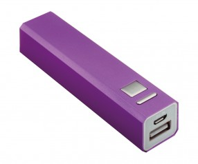 Powerbank REFLECTS-BOSTON PURPLE 2200 mAh mit Werbeanbringung lila