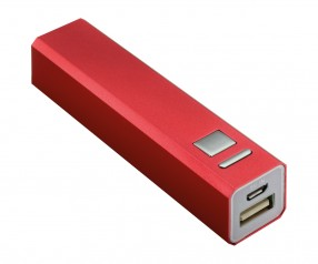 Powerbank REFLECTS-BOSTON RED 2200 mAh Werbeartikel rot
