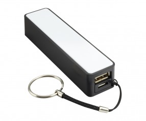 Powerbank REFLECTS-CAMARGO BLACK 2200 mAh Promotion-Artikel schwarz
