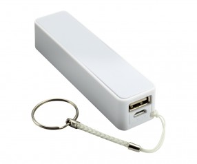 Powerbank REFLECTS-CAMARGO WHITE 2200 mAh mit Logo weiß
