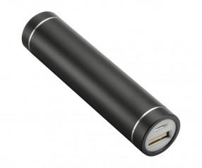 Powerbank REFLECTS-DELPHI BLACK 2200 mAh mit Werbeanbringung schwarz