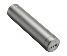 Powerbank REFLECTS-DELPHI SILVER 2200 mAh Promotion-Artikel silber