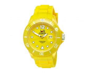 REFLECTS Armbanduhr LOLLICLOCK-DATE YELLOW Werbeartikel gelb