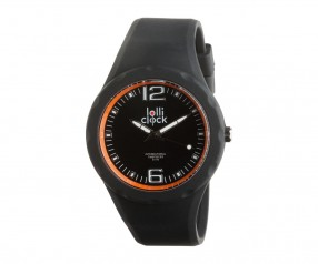 REFLECTS Armbanduhr LOLLICLOCK-FRESH BLACK ORANGE Promotion-Artikel schwarz/orange