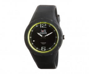 REFLECTS Armbanduhr LOLLICLOCK-FRESH BLACK YELLOW mit Logo schwarz/gelb