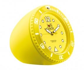 REFLECTS Uhr LOLLICLOCK-ROCK YELLOW Werbepräsent gelb