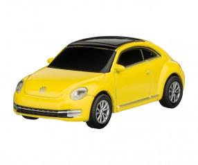 REFLECTS USB-Speicherstick VW Beetle 1:72 YELLOW 16GB mit Beschriftung gelb
