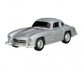 REFLECTS USB-Speicherstick Mercedes Benz 300SL 1:72 SILVER 16GB mit Beschriftung silber