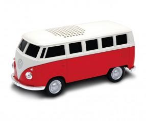 REFLECTS Lautsprecher mit Bluetooth® Technologie VW Bus T1 1:36 RED mit Logo rot