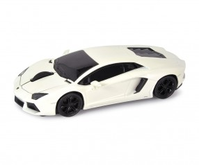 REFLECTS Computermaus Lamborghini Aventador 1:32 WHITE mit Beschriftung weiß