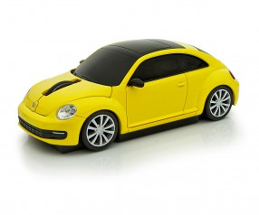 REFLECTS Computermaus VW Beetle 1:32 YELLOW Promotion-Artikel gelb