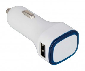 USB Autoladeadapter REFLECTS-COLLECTION 500 Werbemittel weiß/blau