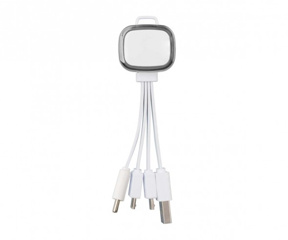 Multi-USB-Ladekabel REFLECTS-COLLECTION 500 mit Werbeanbringung weiß/schwarz