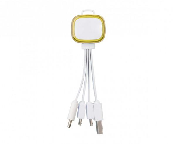 Multi-USB-Ladekabel REFLECTS-COLLECTION 500 mit Werbeanbringung weiß/gelb