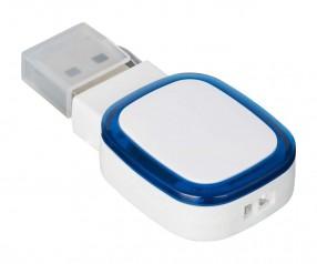 USB-Speicherstick REFLECTS-COLLECTION 500 mit Beschriftung weiß/blau