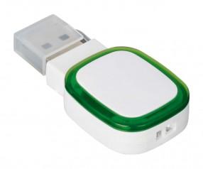 USB-Speicherstick REFLECTS-COLLECTION 500 Werbegeschenk weiß/grün