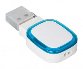USB-Speicherstick REFLECTS-COLLECTION 500 Werbepräsent weiß/hellblau