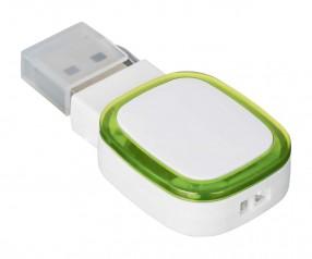 USB-Speicherstick REFLECTS-COLLECTION 500 mit Werbeanbringung weiß/hellgrün