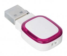 USB-Speicherstick REFLECTS-COLLECTION 500 mit Beschriftung weiß/magenta