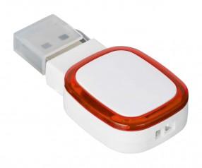 USB-Speicherstick REFLECTS-COLLECTION 500 mit Beschriftung weiß/rot
