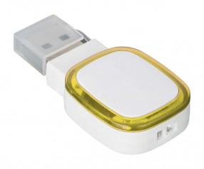 USB-Speicherstick REFLECTS-COLLECTION 500 Werbegeschenk weiß/gelb