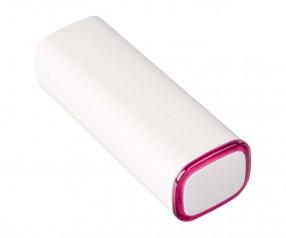 Powerbank REFLECTS-COLLECTION 500 mit Beschriftung weiß/magenta