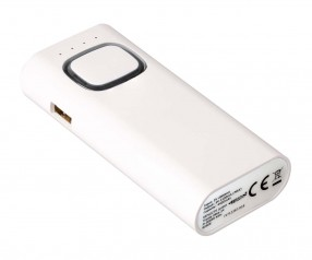 Powerbank mit COB LED Taschenlampe REFLECTS-COLLECTION 500 Promotion-Artikel weiß/schwarz