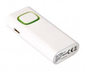Powerbank mit COB LED Taschenlampe REFLECTS-COLLECTION 500 Werbeartikel weiß/hellgrün