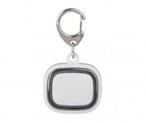 Schlüssellicht aufladbar REFLECTS-COLLECTION 500 mit Werbeanbringung weiß/schwarz