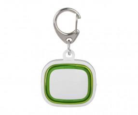 Schlüssellicht aufladbar REFLECTS-COLLECTION 500 Werbegeschenk weiß/hellgrün
